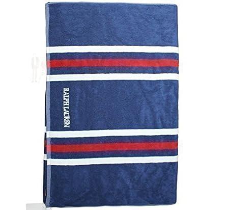 Ralph Lauren Unisex Blue Harbourveiw Bath Towel Beach Towel Size Xl