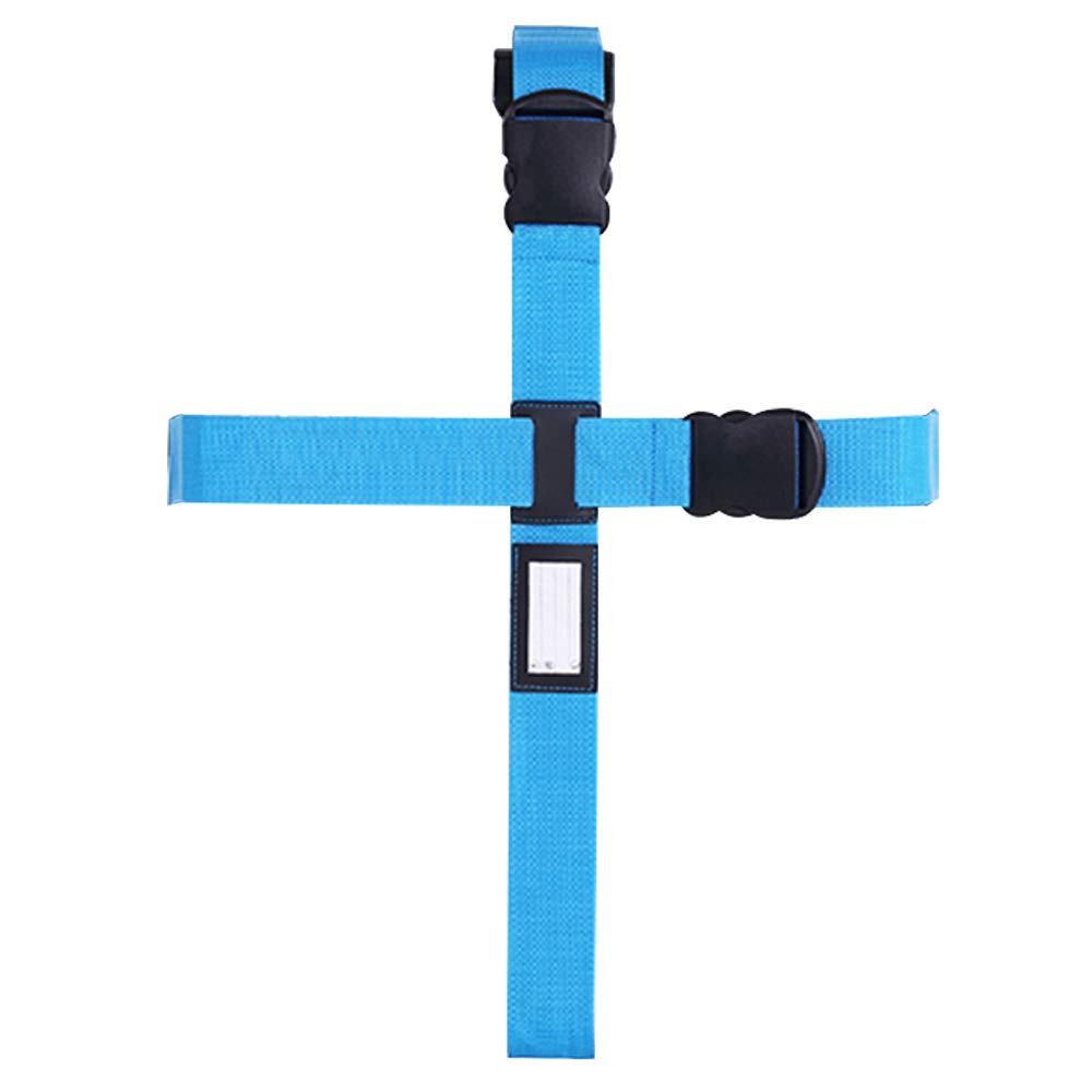 Blue Cross Luggage Strap for Suitcases Esoes Adjustable Long Suitcase Luggage Straps Belt Travel Bag Packing Belt Accessories