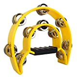 Pro Half Moon Tambourine Double Cutaway MT-1 -Yellow