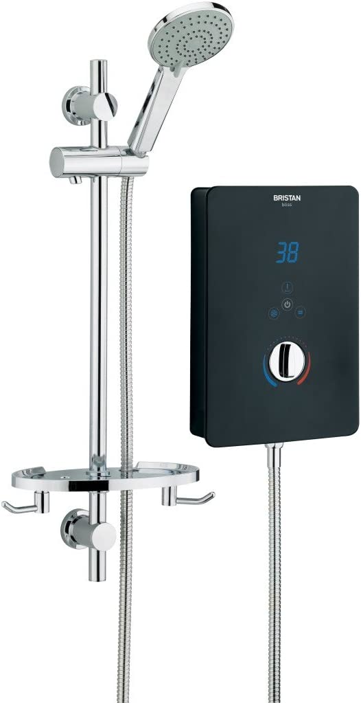 Bristan BL3105 B Bliss 3 Electric Shower, 10.5 kW, Black