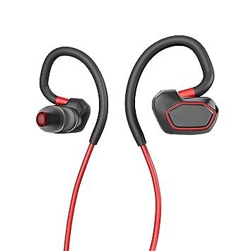GanChow Auricular bluetooth, auriculares inalámbricos con bluetooth para hacer ejercicio, gimnasio y para correr, auriculares intrauditivos con estéreo y ...