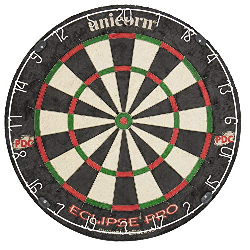 Unicorn Eclipse Pro Dart Board with Ultra Slim Segmentation - 30% Thinner Than Conventional Boards -...