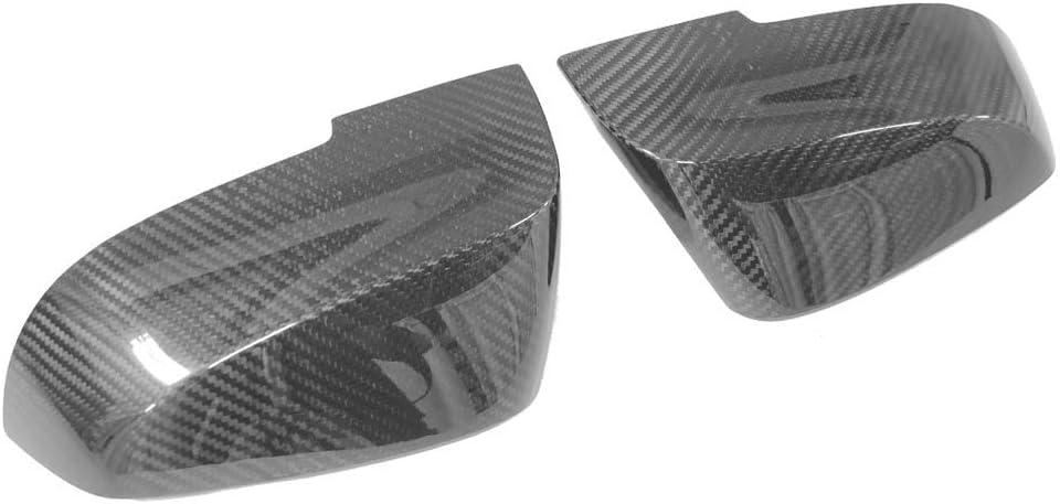WonVon 1 Pair Carbon Fiber Mirror Housing Cover Side Mirror Cover Trim Door Mirror Cover Wing Mirror Cover Cap For B-M-W F20 F22 F23 F30 F31 F32 F33 F36 F87 M2 X1 E84