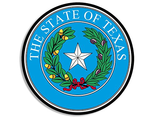 - American Vinyl Round Blue The State of Texas Seal Sticker (tx Texan Decal)