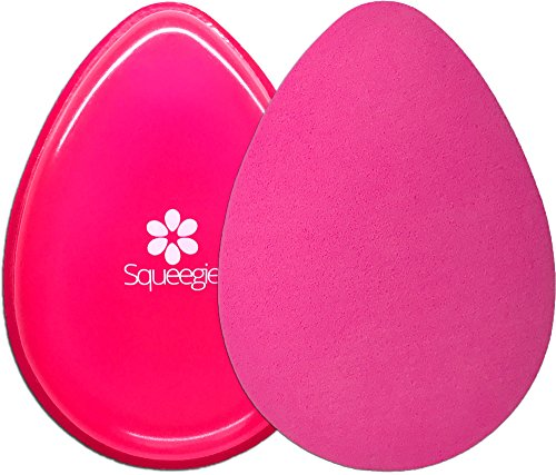 The Original Squeegie Blender | Make-up Silicone and Cosmetic Sponge in 1 Beauty Product | Soft, Sleek and Foundation-Smart | Hot (Halloween Web Eyeliner)