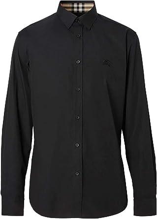 Burberry 8024526 - Camisa de algodón para hombre, color negro ...