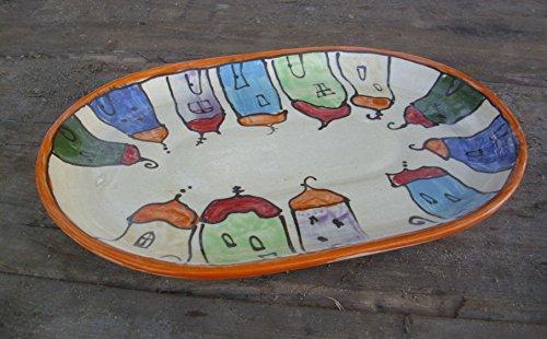 Servierplatte Schlemmerplatte oval in colorido
