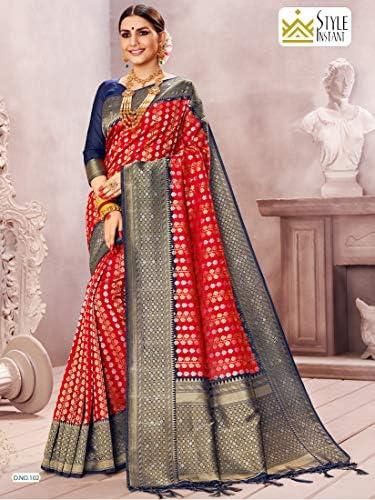 Neuf Indian Designer soie KATAN Saree couleurs différentes excellente qualité