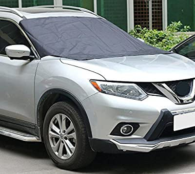 """Magnetic Edges Windshield Snow Cover Waterproof Car Auto Windshield Sun-shading Sunscreen Sunshade Cloth Front Window Sun-shading Snow Shade Cover 82""""x47"""" 210cm120cm 8 Magnets"""
