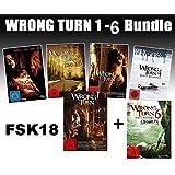 Wrong Turn 1-6 Bundle, Set, 1,2,3,4,5,6 - Alle Teile I-VI FSK18