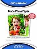 Printworks Matte Photo Paper, Double-Sided, 8 Mil, Inkjet, 30 Sheets, 8.5 X 11-Inch (00548)