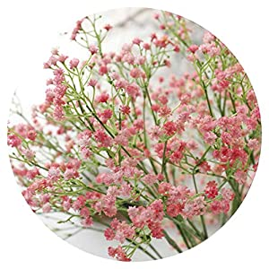 1pc Artificial Baby's Breath Flower Gypsophila Fake Silicone Plant for Wedding Home Hotel Party Decoration 5 Colors 14