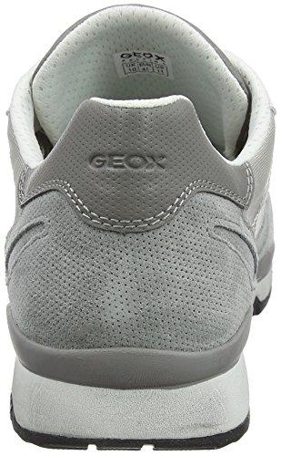 Geox U Sandford A, Scarpe da Ginnastica Basse Uomo Grigio (Lt Grey)