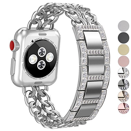 Apple Watch Band, No1seller Premium Stainless Steel Cowboy Style Bracelet Watch Band Strap for Apple Watch Series 3, Series 2, Series 1 by NO1seller Top