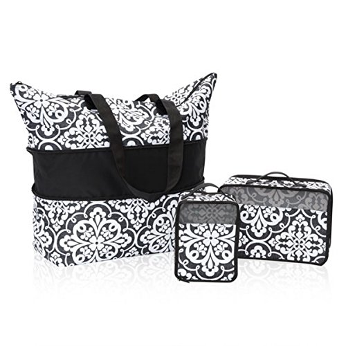 Thirty One Expand-A-Tote Bundle in Medallion Medley - No Monogram - 8585