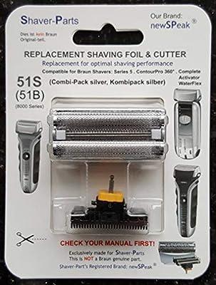 Reemplazo alternativo de la cuchilla de afeitar eléctrica Braun ...