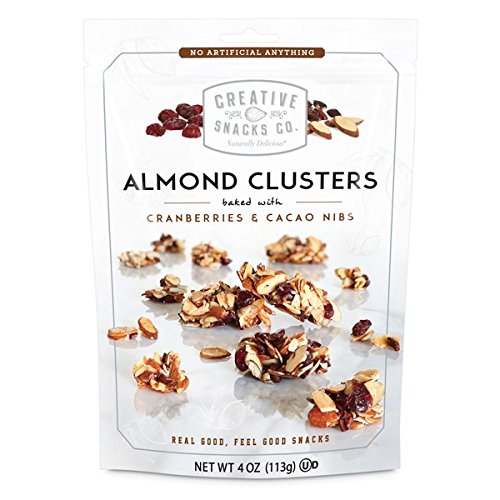 Creative Snacks, Almond Clusters, Cashews & Cranberries, 4 oz, Pack of 6 -