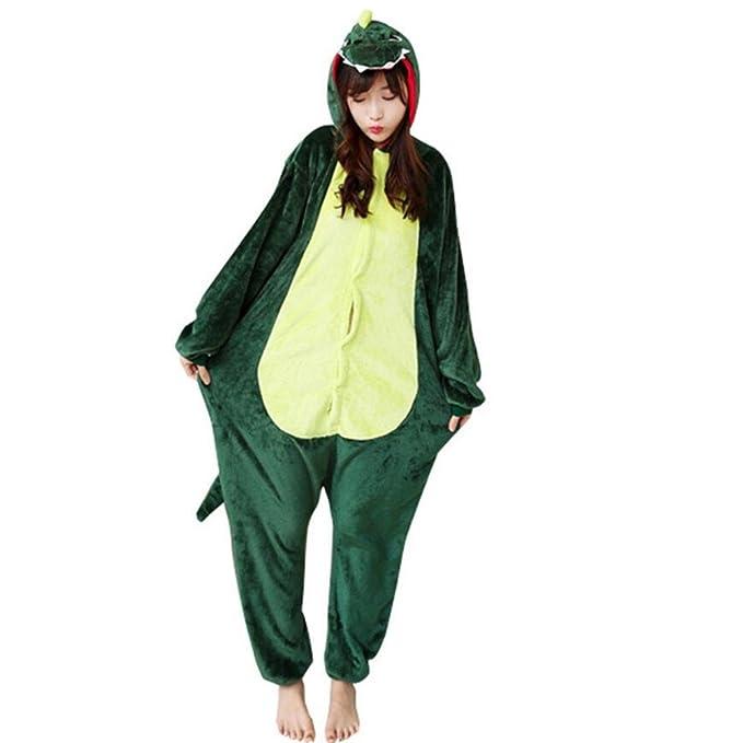 Mengshufen - Pijama de una pieza - para mujer Verde verde S