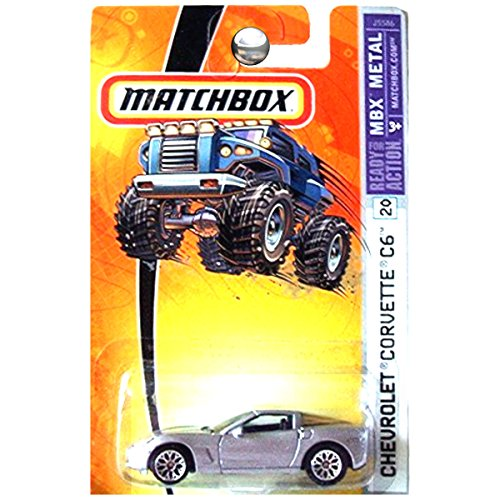 Matchbox 2006 MBX Metal Chevrolet Chevy Corvette C6 in Silver #20