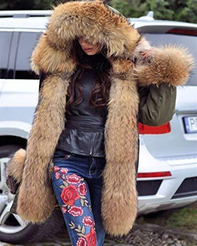 Incappucciato Casual Grün Giacca Manica Cappotti Abbigliamento Invernali Cappotto Taglie Forti Eleganti Autunno Ecopelliccia Moda Trapuntata Donna Fashion Lunga TwAPPXqI