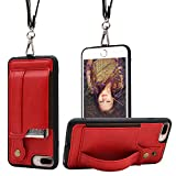 TOOVREN iPhone Necklace Lanyard Case with Kickstand Card Holder for 5.5'' iPhone 6