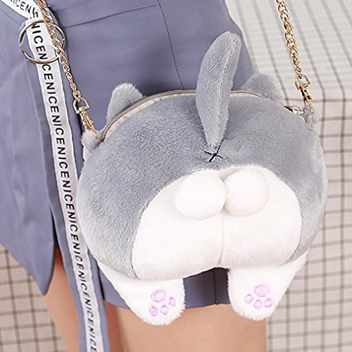 Women Girl's Cute Cat Butt Tail Plush Handbag Crossbody Shoulder Bags Purse - 2017 Eyeglass Trends Womens
