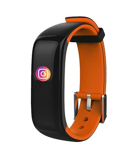 Creative BLACK-ORANGE inteligente banda reloj actividad rastreador Bluetooth táctil Protector de muñeca para iOS/Android: Amazon.es: Relojes