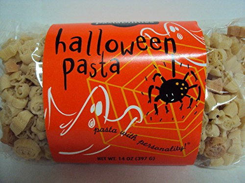 Halloween Pasta - Ghost, Pumpkin & Spider shaped, 14oz/397g : Made in USA, All Natural]()