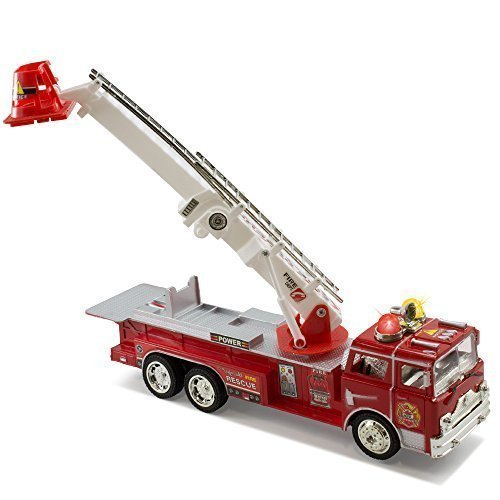 Kidsthrill Bump And Go Electric Rescue Fire Engine Ladder Truck - Kids Action Toy With Lights And Sounds [並行輸入品] B01MQZGE3N