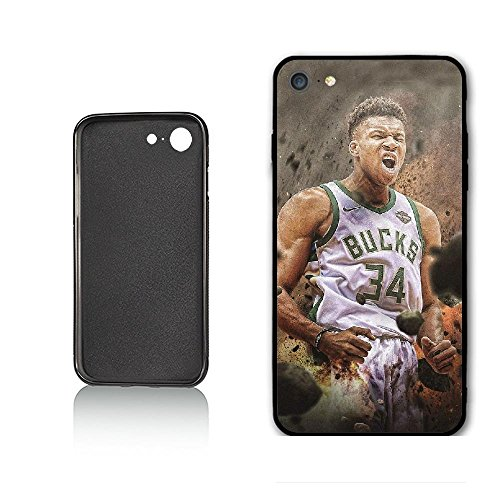 (WZSY Personalized Sport Best Basketball Player Milwaukee MVP Antetokounmpo Case for iPhone 6 iPhone 6s,PC Material Never)
