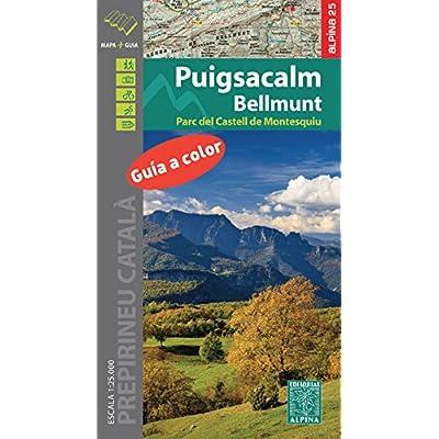 Puigsacalm-Bellmunt, mapa excursionista. Escala 1:25.000. Editorial Alpina.