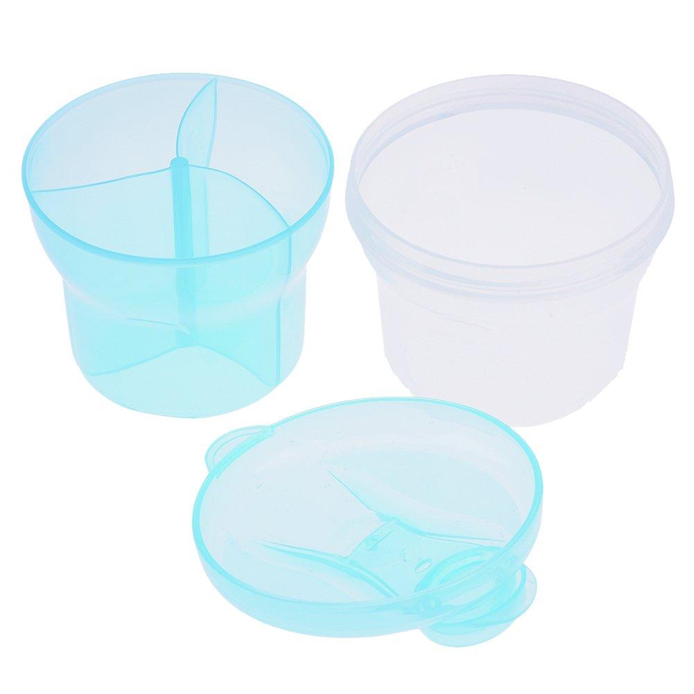 Per Portable Baby Milk Powder Formula Dispenser Container for Storage, Milk Powder Box Snack Container Feeding Box Case(Blue)