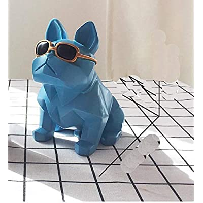 Miss.AJ Cute Bulldog Piggy Bank Puppy Coins Saving Money Box Home Desk Decor Ornament for Birthday: Toys & Games