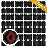 ARTISANMAN 100PCS Tire Valve Stem Caps, Car Stem Valve Caps, Universal Tire Stem Covers for Trucks, Motorcycle, Bi00cycle, tire dust Cap(Black)