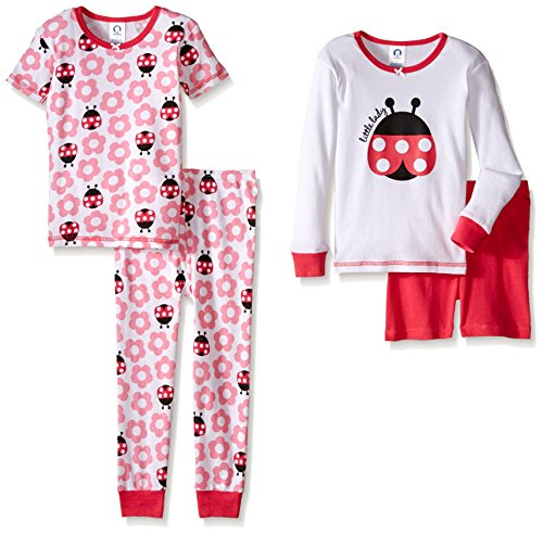 Gerber-Little-Girls-Four-Piece-Cotton-Pajama-Set-Ladybug-24-Months