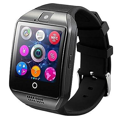 Amazon.com: Fashion Arc Clock Bluetooth Smart Watch Q18s ...