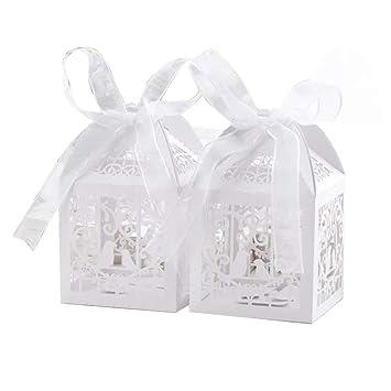 Demarkt Caja de Dulces de Aves Navidad Regalos de Cumpleaños y Fiesta Cajas de Regalo Conjunto de Convites para Decorativos 50PCS: Amazon.es: Hogar