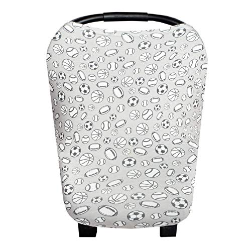 Baby Car Seat Cover Canopy and Nursing Cover Multi-Use Stretchy 5 in 1 GiftChamp by Copper Pearl