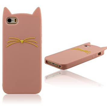 coque iphone 5 chat rose