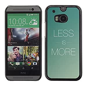 A-type Arte & diseño plástico duro Fundas Cover Cubre Hard Case Cover para HTC One M8 (Menos es más)