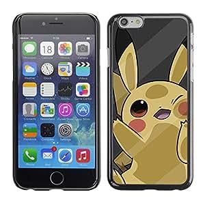 A-type Arte & diseño plástico duro Fundas Cover Cubre Hard Case Cover para Apple (4.7 inches!!!) iPhone 6 / 6S (Lindo P0kemon Amarillo)