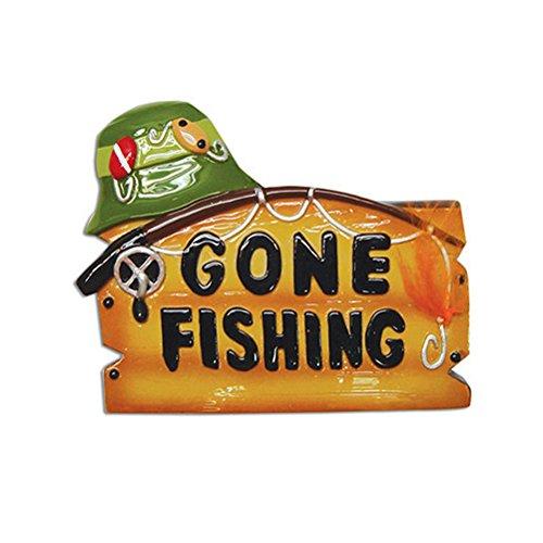 - Gone Fishing Fisherman Personalized Christmas Tree Ornament