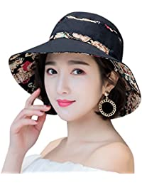 bf368c402e4 Womens Sun Hat Summer UPF 50+ UV Protection Beach Hat Foldable Wide Brim Cap