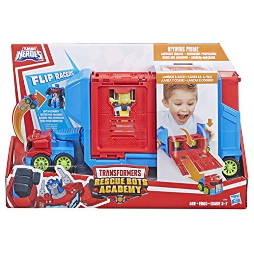 Figura Rescue Bots Lançador Optimus, Playskool, Cinza/azul/vermelho