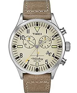 Timex Men Beige Leather Casual Watch - Tw2P84200