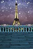 GladsBuy The Eiffel Tower Under the Stars 6' x 9' Digital Printed Photography Backdrop KA Series Background KA051