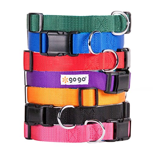 GoGo Pet Products Comfy Nylon 3/8-Inch Adjustable Pet Collar, X-Small, Hunter Green