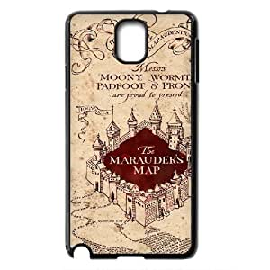 Custom Harry Potter - The Marauder's Map Productive Back Phone Case For Samsung Galaxy NOTE3 Case Cover -Style-10