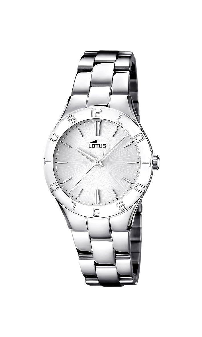 Amazon.com: Lady s reloj – Lotus – Banda de acero ...