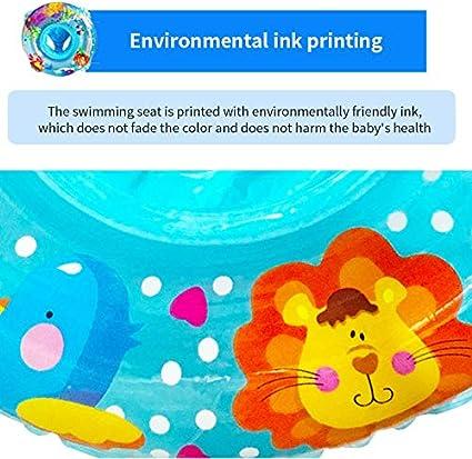 con doppio manico Anelli gonfiabili per piscina blu//rosa per bambini Raword
